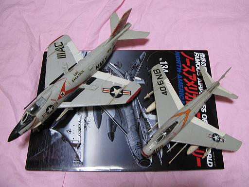 エマーの1/72「FJ-4B」と「F3H」