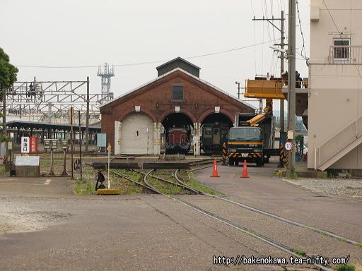 糸魚川駅のレンガ車庫
