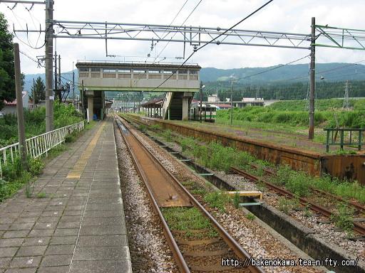 塩沢駅の1番ホームその2