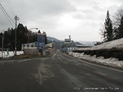 旧入広瀬村内の国道252号線