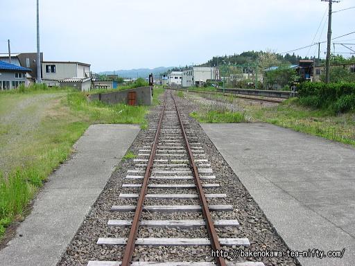 西山駅の貨物線跡