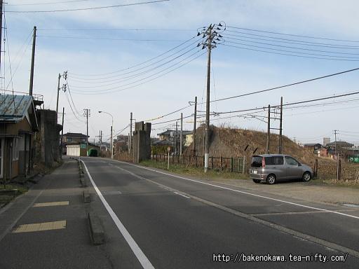 蒲原鉄道の旧陣ヶ峰駅跡その2