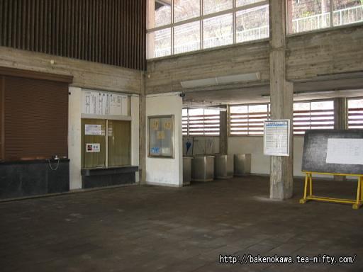 湯檜曽駅の旧駅舎内部その1