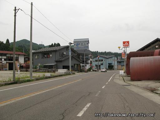 越後須原駅至近の国道252号線その1