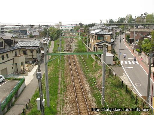 陸橋上から見た内野駅構内
