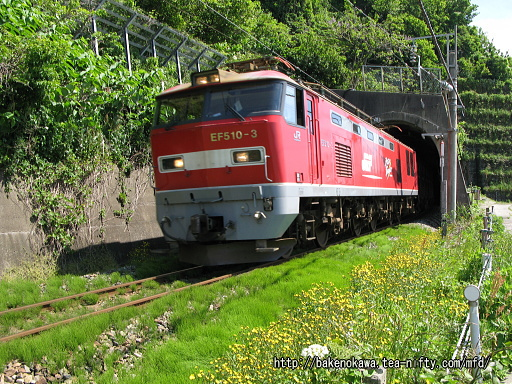EF510形電気機関車牽引の貨物列車その2