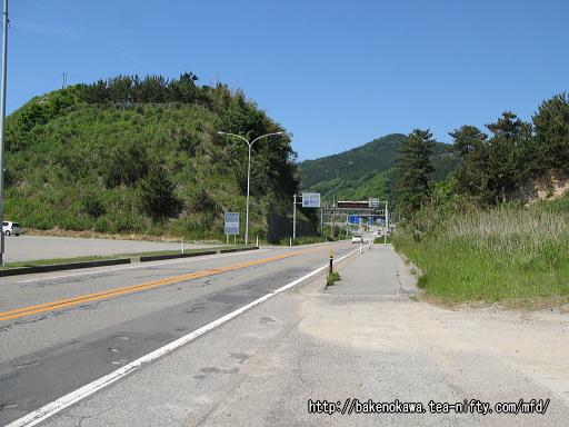 国道7号線の新潟山形県境