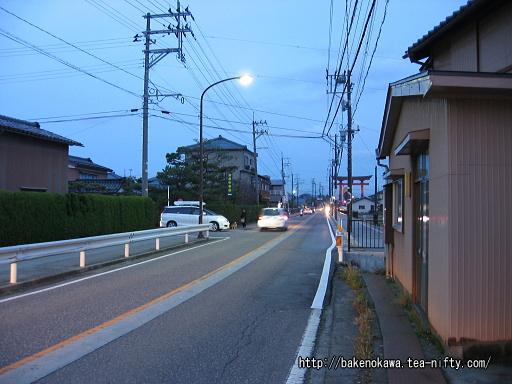 矢作駅至近の県道