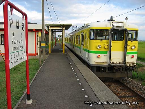矢作駅を出発する115系電車Y編成