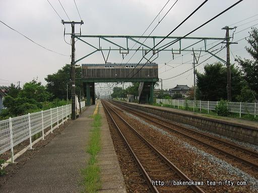 田上駅の上りホームその2