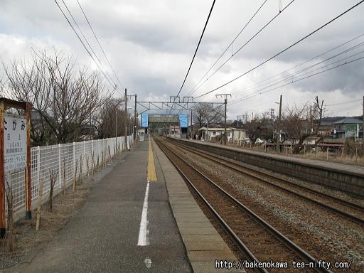 田上駅の下りホームその1