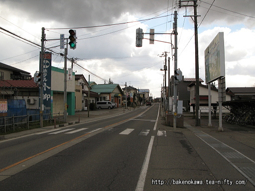 駅前の国道409号線