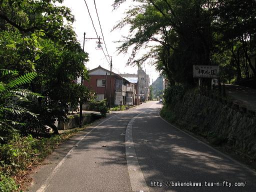 咲花温泉街入口