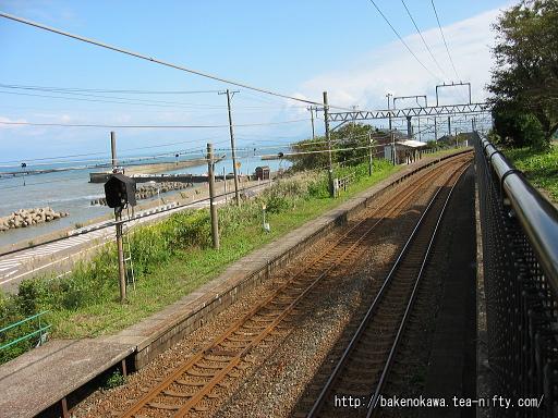 俯瞰で見た有間川駅構内その1