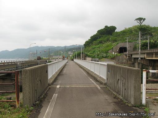 有間川橋と旧線橋脚跡その1