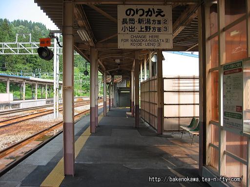 越後川口駅の1番ホームその1