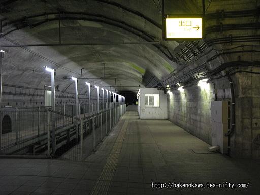土合駅の地下ホームその9