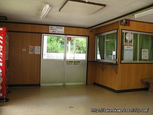土樽駅駅舎内部その2