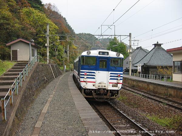 今川駅を出発するキハ40系気動車その一