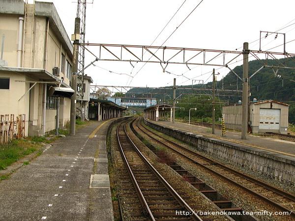 妙高高原駅の1番線その1