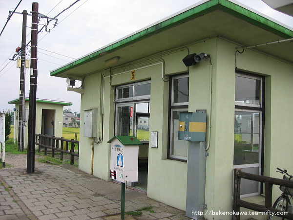 駅舎のホーム側