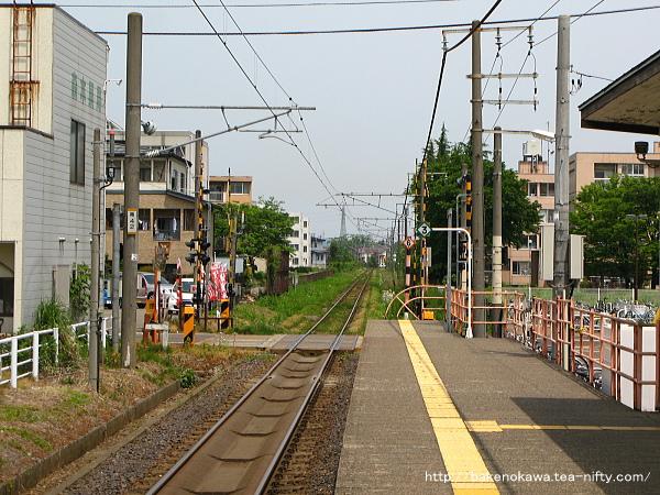 南高田駅のホームその2