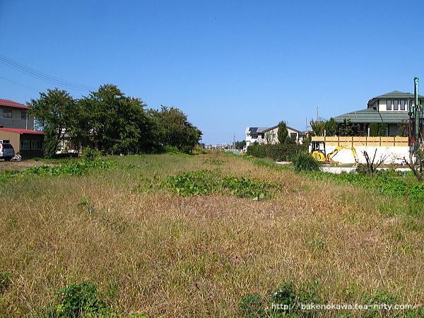 旧脇野田駅付近の旧線跡?