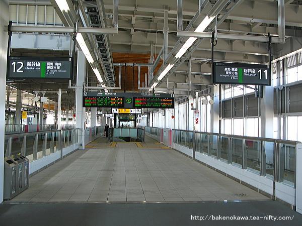 北陸新幹線・上越妙高駅構内の様子その一