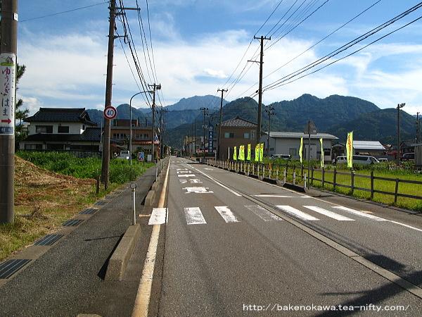 能生駅前通りの様子