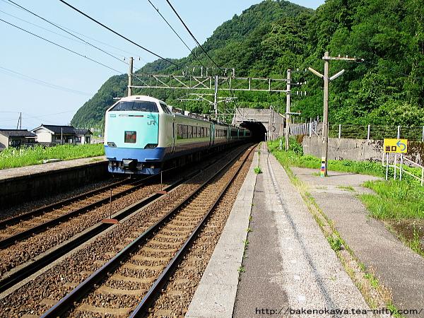 浦本駅を通過する485系電車特急「北越」その2