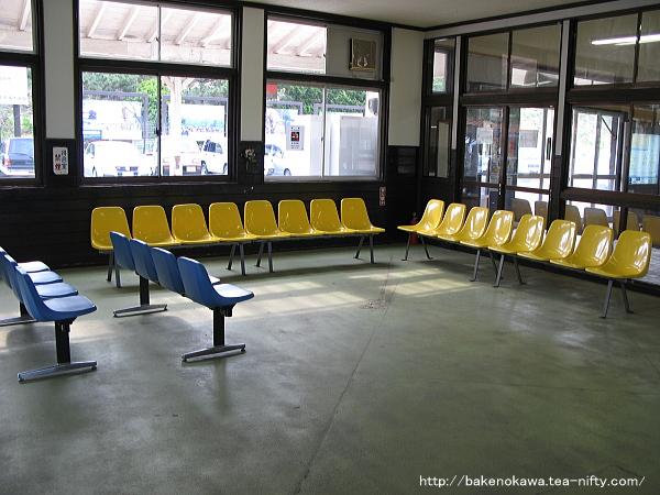 柿崎駅の旧駅舎内部その2
