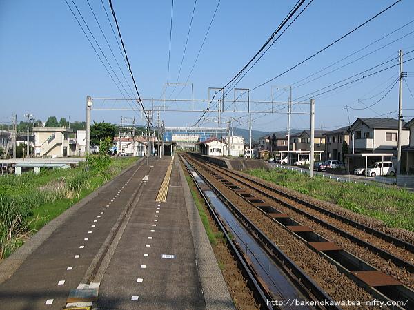 来迎寺駅の1番ホームその1