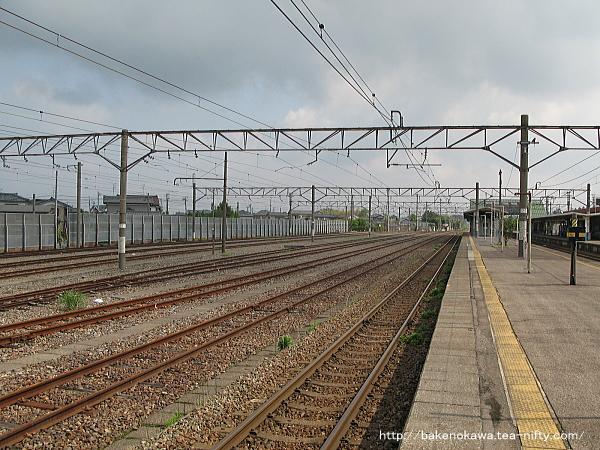 中条駅の貨物側線群