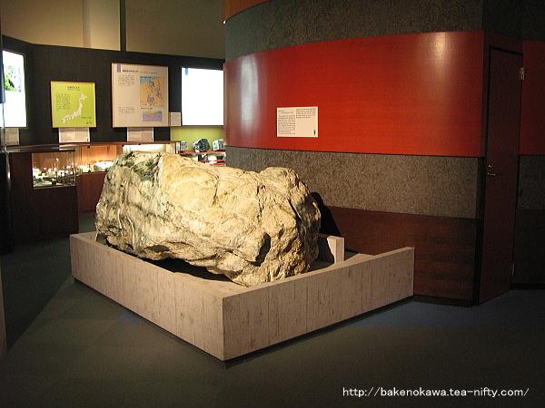 フォッサマグナミュージアムに展示されている岩石その二