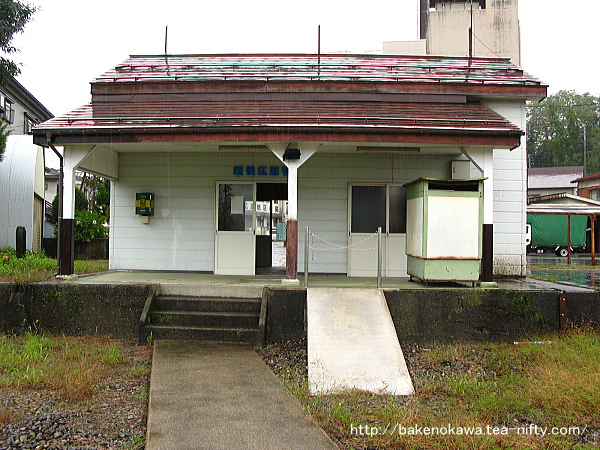 構内側から見た越後広瀬駅駅舎その2