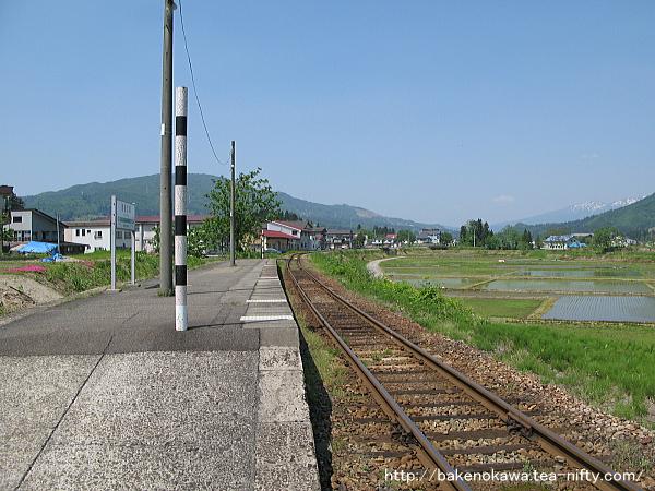越後広瀬駅の旧島式ホームその2