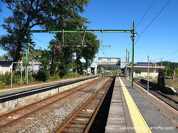 小島谷駅の1番ホームその1
