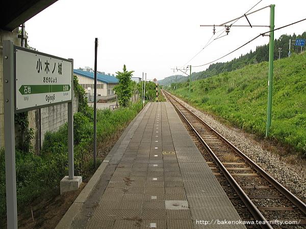 陸橋上から見た小木ノ城駅構内その1