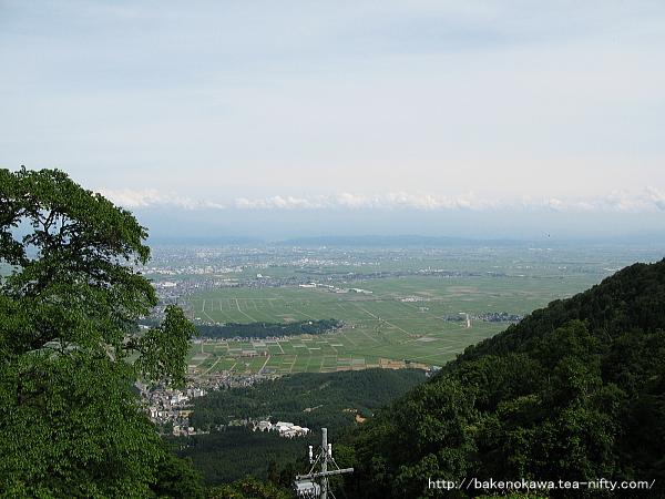 山頂から見た西蒲原
