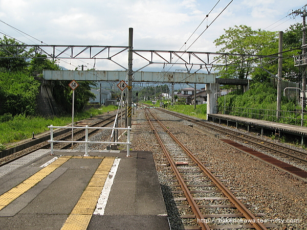黒姫駅の島式ホームその3