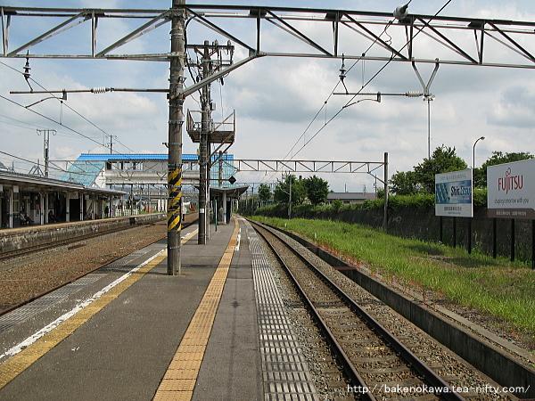 黒姫駅の島式ホームその4