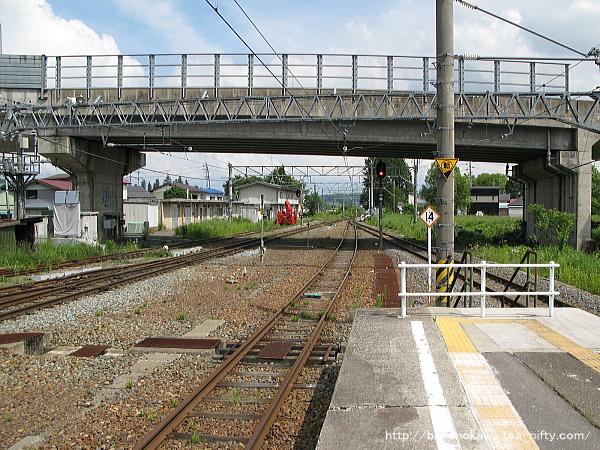 黒姫駅の島式ホームその6