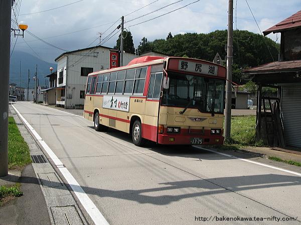 野尻湖行の路線バス