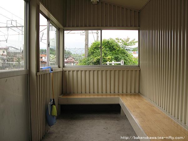 2番ホームの待合室