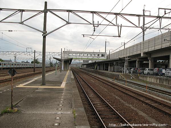 北長野駅の島式ホームその3