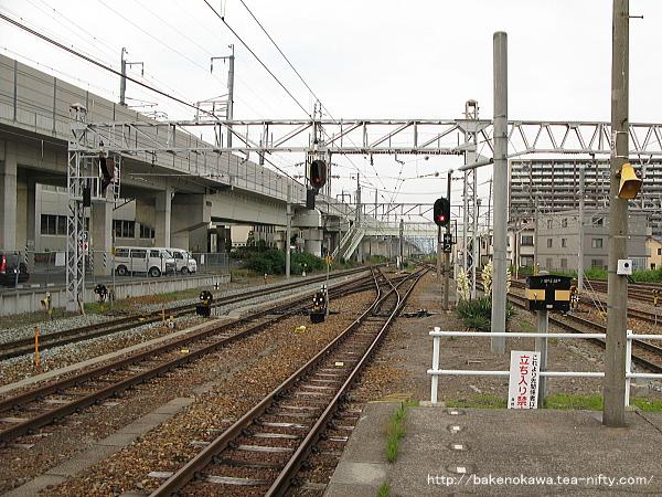 北長野駅の島式ホームその4