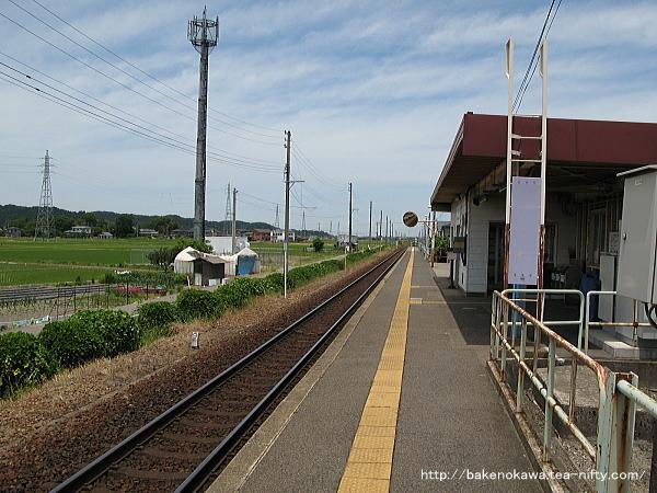 北五泉駅のホームその1