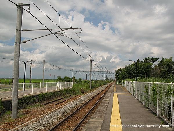 矢代田駅の上りホームその3