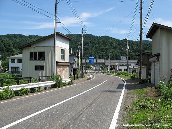 虫川大杉駅付近の県道