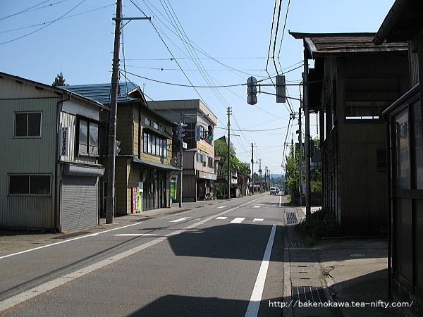 越後岩沢駅付近の国道117号線その1